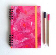 Pink panter Notebook. Hardcover and elastic band. por kinmcuadernos, €12.00