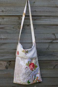 Rose Applique Market Bag