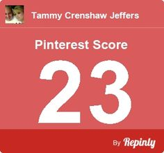My Pinterest Score is 23 - Click the image to calculate your Pinterest influence