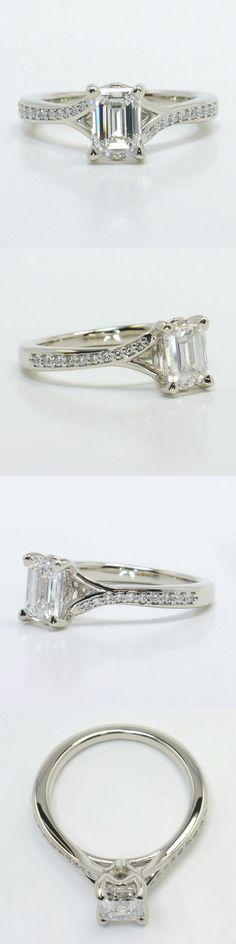 Split Shank Micropave Diamond Engagement Ring by Brilliance.com! Diamond/Gem Cost: $2,592 (Emerald 1.02 Ctw. Color: J Clarity: VVS1 Cut: Excellent Certification: GIA) Setting Cost: $995 (Metal: 14K White Gold Side Shape: Round Side Carat: .10 Side Color: G-H Side Clarity: SI1-SI2 Side Cut: Exellent Setting Type: Pave) Total Cost: $3,587 www.brilliance.com