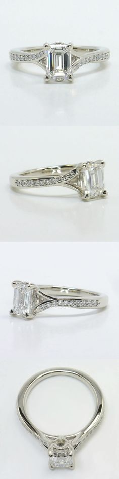 Stunning Cathedral Diamond Engagement Ring DiamondGem Cost