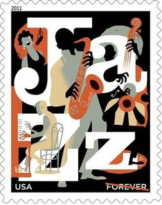 US Jazz Stamp 2011 |  Art director: Howard Paine | illustration: Paul Rogers