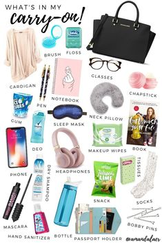 Packing Guide: Carry-On Essentials - Guide Packing Guide: Carry-On Essentials - Guide,You can find Travel packing and more on our website.Packing Guide: Carry-On Essentials - Guide . Roadtrip Tips, Travel Packing Checklist, Carry On Packing, Travelling Tips, Road Trip Checklist, Travel Guide, Packing Hacks, Packing Tips For Vacation, Traveling