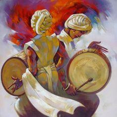 Eikowa | Harmony in Percussion Painting by Shankar Gojare- Eikowa Arts