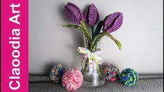 Tulipany z papierowej wikliny (tulips, paper wicker, DIY)