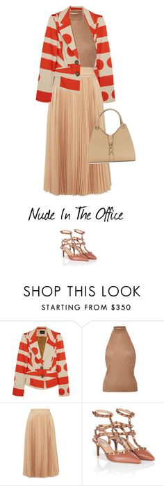 """""""Nude In The Office"""" by bliznec-anna ❤ liked on Polyvore featuring Vivienne Westwood Anglomania, Rosetta Getty, 10 Crosby Derek Lam, Valentino and Calvin Klein"""
