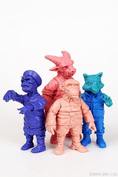 https://flic.kr/p/vk95Xy | Unpainted Jiangshi Acolyte, Wilbur, Zuco Banana and…
