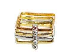 Square engagement ring contemporary by Florencehandmade on Etsy