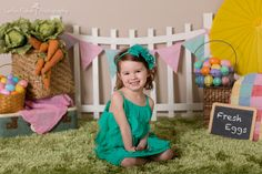 Easter ideas. Fun Easter dress and studio Easter Mini Sessions for the cold midwest winter!