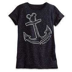 Mickey Mouse Icon Anchor Metallic Tee for Women - Disney Cruise Line - Black: Cruise Outfits, Disney Outfits, Disney Clothes, Women's Clothes, Metallic Tees, Disney Cruise Line, Disney Xd, Disney Magic, Cruises