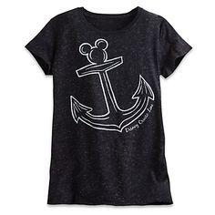 Mickey Mouse Icon Anchor Metallic Tee for Women - Disney Cruise Line - Black: Cruise Outfits, Disney Outfits, Disney Clothes, Women's Clothes, Metallic Tees, Disney Cruise Line, Disney Parks, Walt Disney, Tees For Women