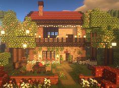 Minecraft Cottage House, Minecraft Garden, Minecraft House Plans, Easy Minecraft Houses, Minecraft House Designs, Minecraft Decorations, Amazing Minecraft, Minecraft Blueprints, Minecraft Crafts