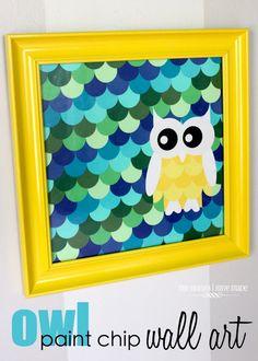 owl paint chip wall art!