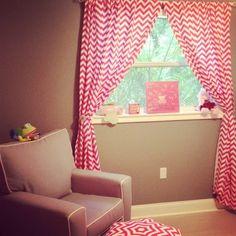 Pink chevron, baby girl nursery