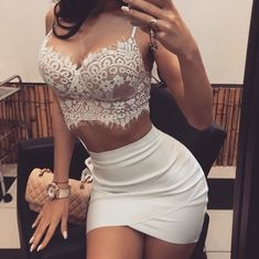 9cede8ac01cf5 Hot Selling Sexy Women Summer Dress Clothes Sets Hollow Out Bandage ...