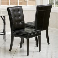 $ 279 set of 2 great reviews @ Overstock Christopher Knight Home Crayton Leather Dining Chair (Set of 2)
