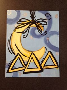 I like the way you hung the crescent moon #deltadeltadelta #tridelta #biglittle