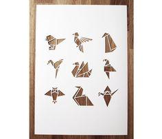 Origami Bird Papercut Uncovet