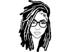 Black Girl Art, Black Women Art, Black Girl Magic, Black Art, Art Girl, Dread Hairstyles, African Hairstyles, Dreads Girl, Afro Art