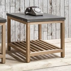 Mix this versatile large side table with contemporary wooden furniture or cool Scandinavian sides for a seriously stylish look. Created from solid French Oak with a resin finished concrete top. http://harleyandlola.co.uk/products/reclaimed-wood-tribeca-large-side-table