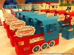THOMAS e amigos! Modelagem para a embalagem do bolo de rolo…