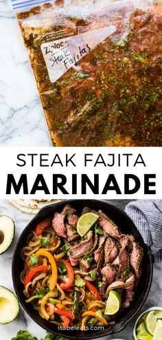 10 Most Misleading Foods That We Imagined Were Being Nutritious! This Steak Fajita Marinade Is Made With Olive Oil, Orange Juice, Lime Juice, Garlic And Flavorful Herbs And Spices That Result In Tender And Juicy Fajitas Steak Tacos, Best Steak Fajitas, Beef Fajita Marinade, Steak Fajita Recipe, Beef Fajitas, Mexican Steak Marinade, Beef Recipes, Mexican Food Recipes, Cooking Recipes