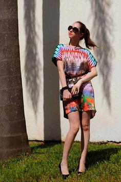 Look do dia: Vestido estampado Dimy #dress #ootd #outfit #look