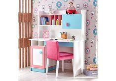 Παιδικό γραφείο Fiyona 1752(Μάκρος:1.20 Ύψος:1.45Βάθος:0.60) Shelving, Vanity, Loft, Bed, Modern, Furniture, Home Decor, Shelves, Dressing Tables