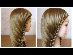 Tuto coiffure simple cheveux long  Coiffure avec tresse facile à faire soi même - YouTube