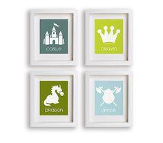 Fairy Tale  Set of Four Art Prints  Art For Nursery by NikoAndLily