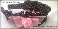 Tecendo Desejos: Tiara/faixa de tecido franzida com passo-a-passo.