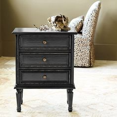 Our Louis XVI Side Table captures the lustrous look in classic Louis style with richly molded drawer front and turned legs. Shop Ballard Designs.