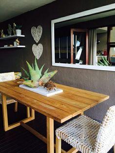 undercover patio - braai area @Nicky Day.net Decor, Outdoor Decor, Alfresco Area, Linden Homes, Outdoor Spaces, Outdoor Tables, Dining Table, Home Decor, Furniture Making