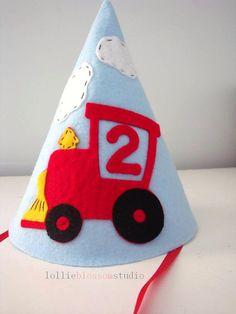 Felt Party Hat Train Birthday Boy By LollieBlossom 2000