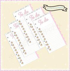 """Refill """"To do"""" per agenda filofax #refill #planner #cupcake"""