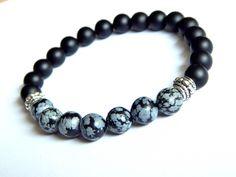 PCS pierres précieuses À faire soi-même Bijoux Rainbow Obsidian perles rondes 10 mm Noir//Doré 38