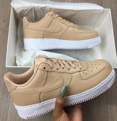 Wheat Air Force by AmourModè Wheat colored Nike Air Force going to checkout  place your size in the comment box  e9a65d9cca