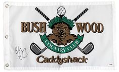 8fb02e7bd141a Chevy Chase Signed Autographed Caddyshack Bushwood Country Club Golf Flag  PSADNA COA     You