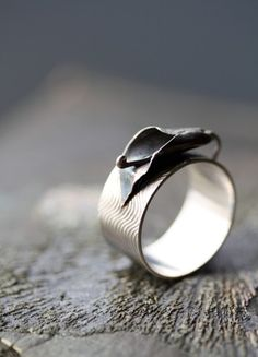 Please somebody buy this for me!!! I love it!!! Oxidized+Sterling+Silver+Calla+Lily+Ring+by+Specimental+on+Etsy,+$215.00