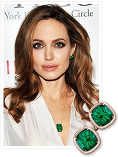 angelina jolie emerald earrings - Buscar con Google