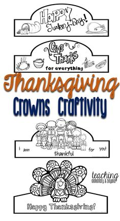 Celebrate Thanksgiving At School Or Home With This Fun Crown Craftivity For Kids Enjoy Making Crafts Holidays And Celebrations