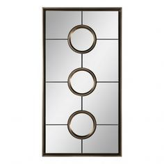With an art deco feel, this contemporary mirror has a silver-champagne finish with floating polished mirrors and an inner circular frame. The mirror can be hung horizontally or vertically. Art Deco Mirror, Metal Mirror, Floor Mirror, Grill Design, Art Deco Design, Art Of Living, Modern Living, Home Decor Outlet, Home Accessories