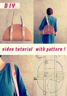 How to Stitch a Half-circle Handbag
