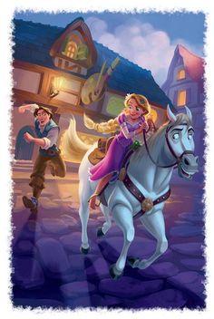 Rapunzel, Eugene, and Maximus Disney Films, Disney Pixar, Disney E Dreamworks, Deco Disney, Disney Animation, Walt Disney, Animation Movies, Disney Rapunzel, Rapunzel Flynn