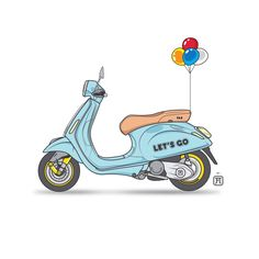 FA x Vespa Sprint for Black Book. Special request! #vector #work #workstation #sketchbook #sketch #illustration #illustrator #vespa #sprint #vector