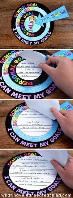 A goal setting craftivity that allows students to artfully express the goals that they set for themselves throughout the year. It comes with a variety of options and can be used at any time of the year. School Goals, Student Goals, 1st Day Of School, Beginning Of The School Year, School Ideas, Classroom Organization, Classroom Management, Classroom Setup, School Classroom