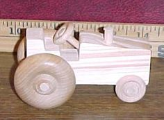 Handcrafted Wood Toy Tractor 118CH-U unfinished or finished by VMWoodFactree for $4.00