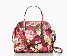 everything's coming up roses on our newest interpretation of the beloved maise — the cedar street floral maise handbag by kate spade new york (july 2014)