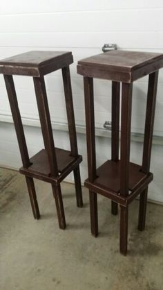 Plant stands, 40 in tall