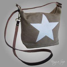 ITALY – BAG Tasche / Schultertasche / Tragetasche / Handtasche - CANVAS & STERN